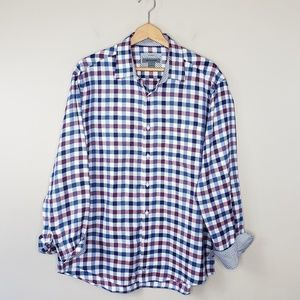 Johnston & Murphy | Plaid Button Down Shirt